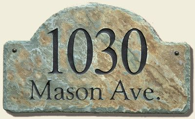 Arch Slate Address Plaque Sign Stone Name Marker Arched C Arch