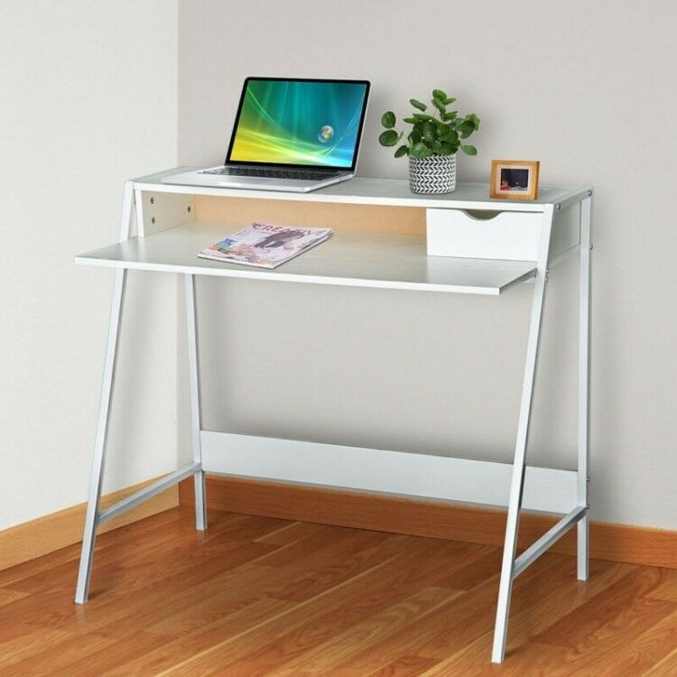 Wooden Office Desk Home Small Computer Writing Pc Table Modern