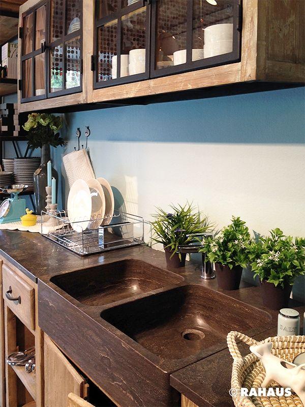 Französisch kochen #Küche #kitchen #Küchenzeile #Holz #Metall #Stein ...