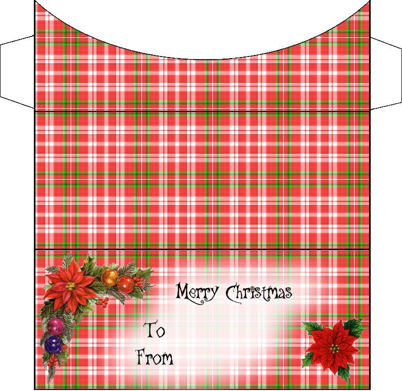 Christmas Envelope Template, Holiday Gift