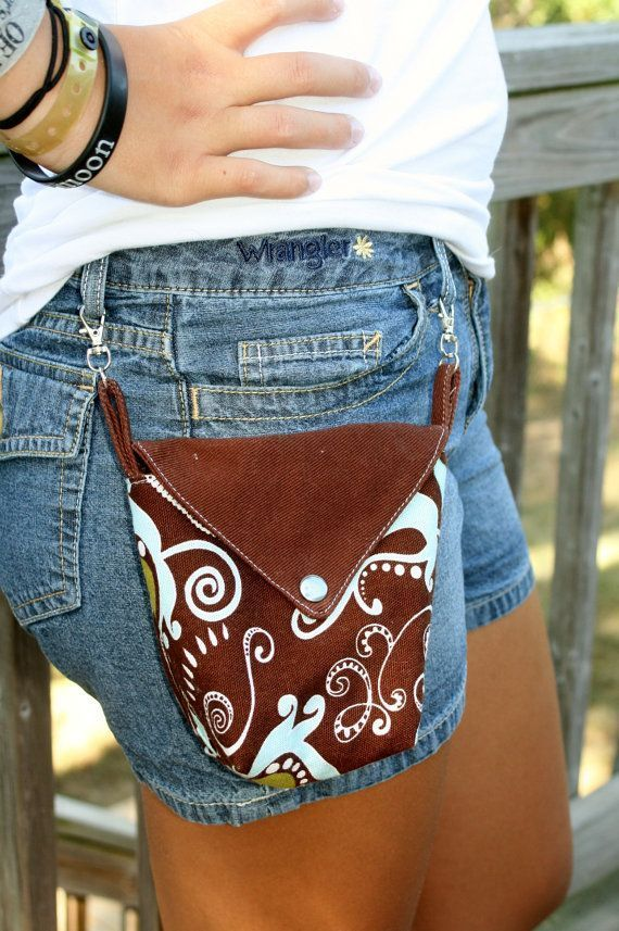 Aqua Green Brown Paisley Hüfttasche mit Clips von Love2BeStitchin, 10,00 $ - #Aqua #Brown #Clips #Green #Hüfttasche #Love2BeStitchin #mit #Paisley #von #wallet #bags
