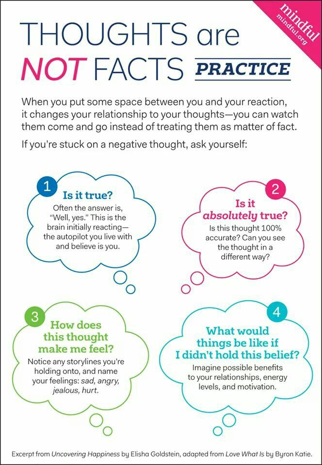 Thoughts are not facts | Encourage Kiddos | Pinterest | Loslassen ...