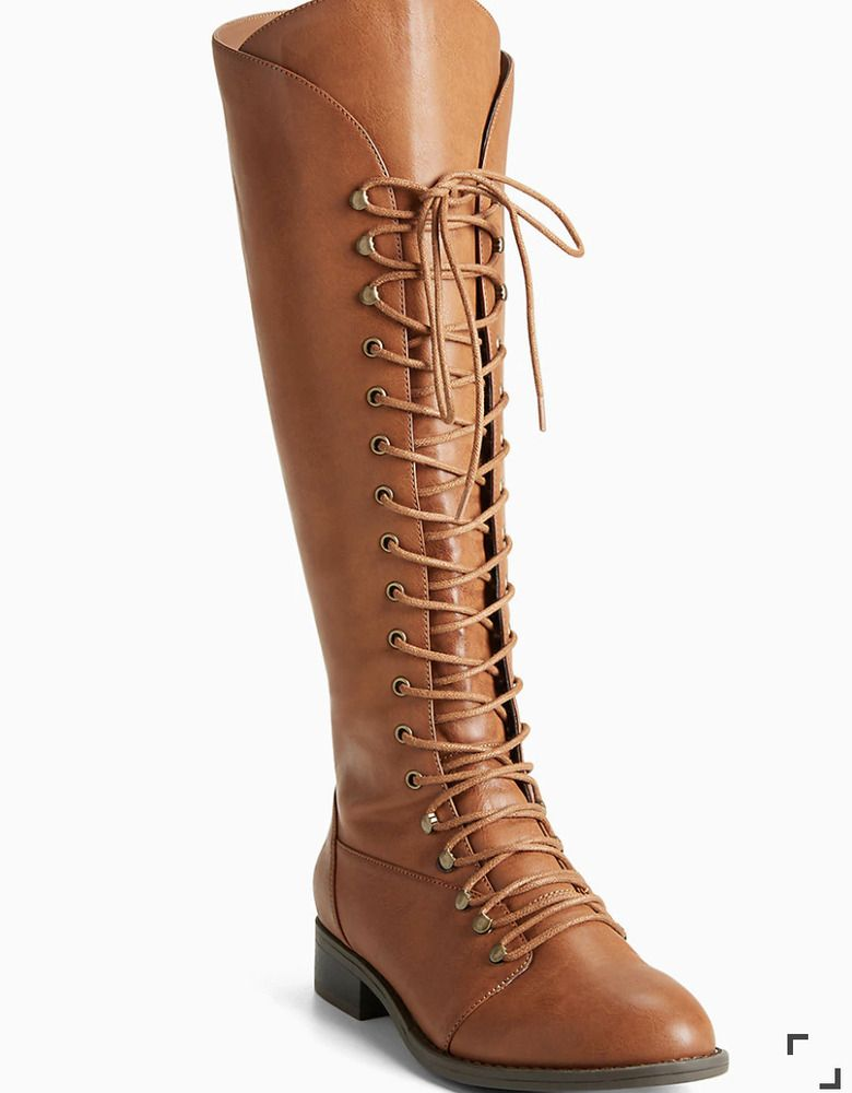 Torrid Lace Up Knee High Boots Size 11