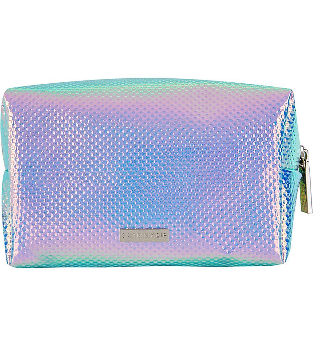 SKINNYDIP Textured holographic makeup bag Makeup bag