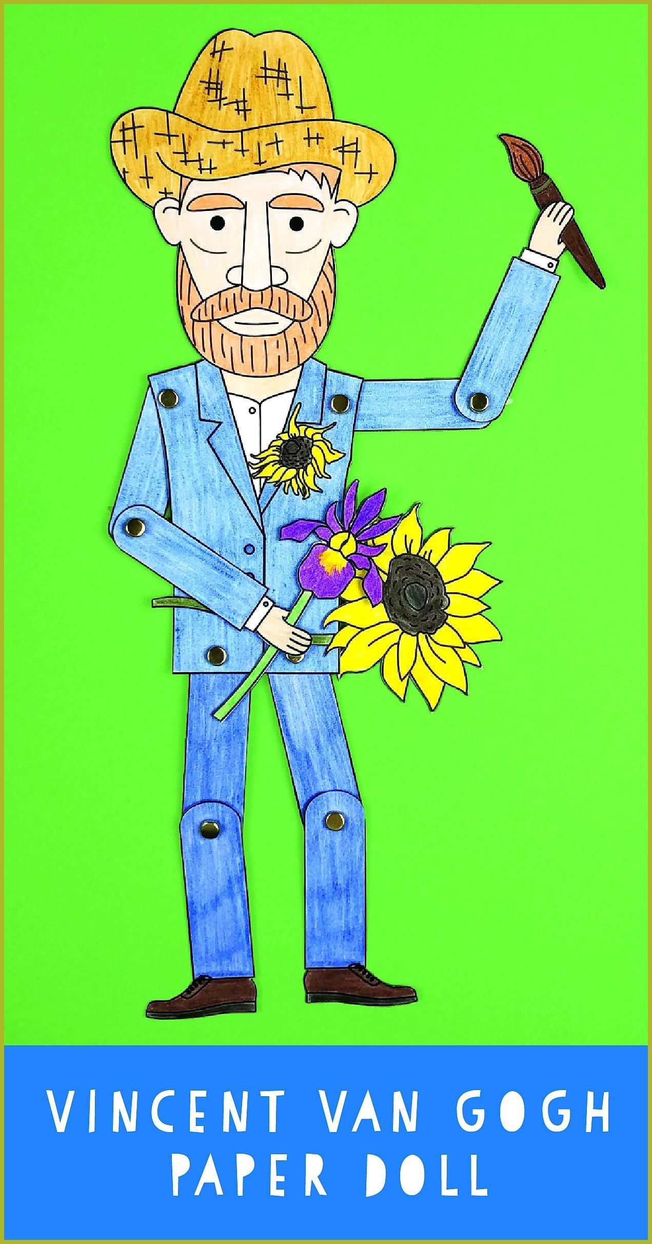 Vincent Van Gogh Paper Doll For Kids Bring Art History To
