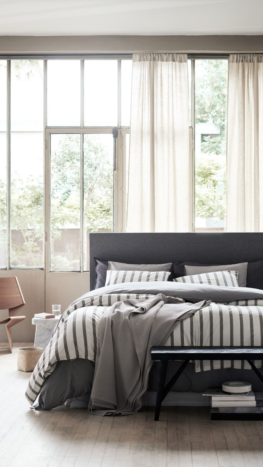 H M Home Love This Scandi Cool And Minimalistic Bedroom Styling