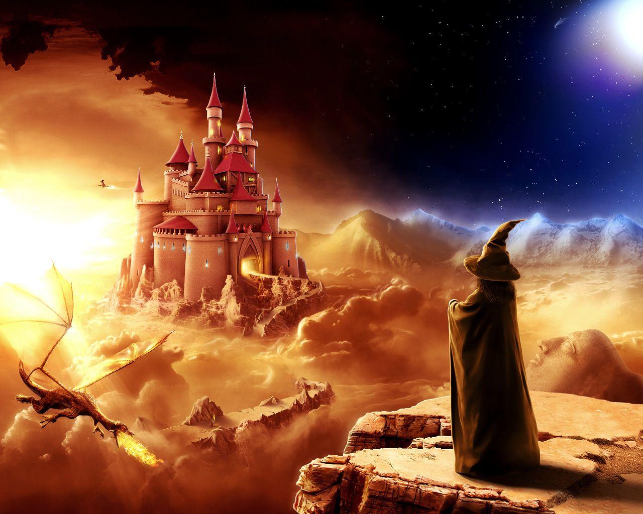 Fanticy Free Online Fantasy Wallpapers Full Hd Desktop Backgrounds Fantasy Castle Fantasy Pictures Fantasy Wizard