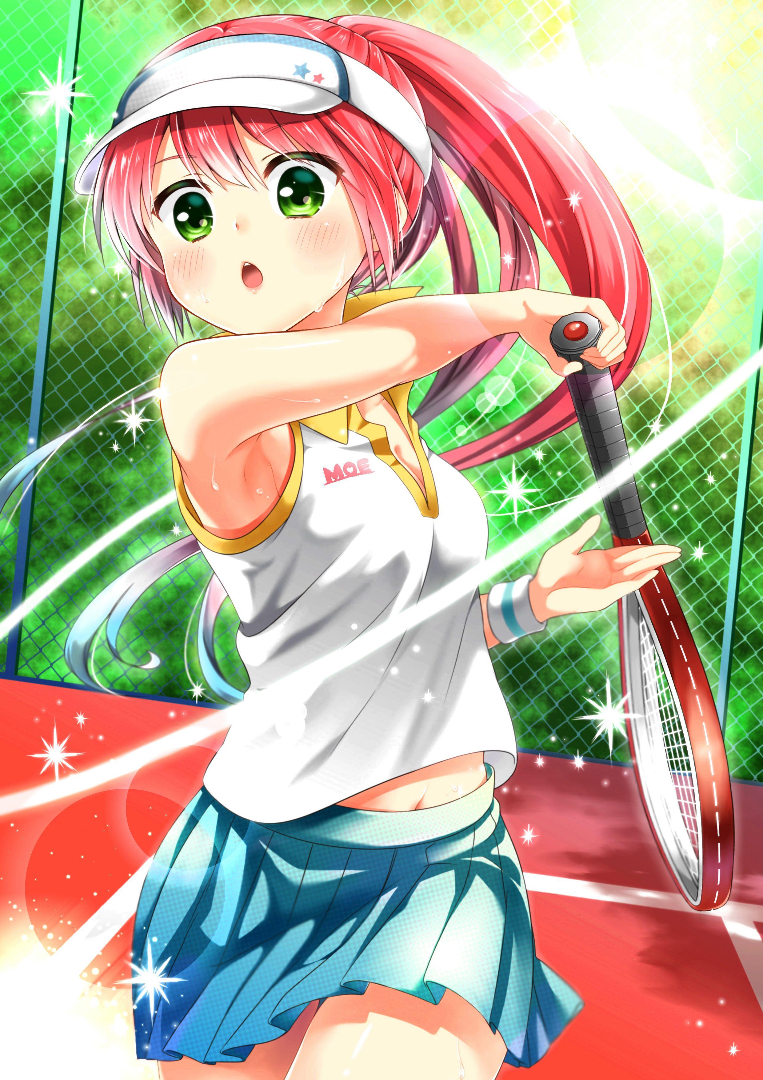 テニスをしているカントクの絵