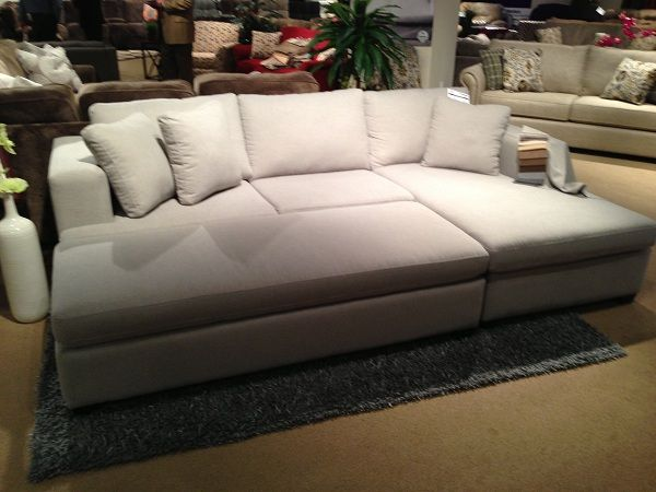 Wondrous Large White Sectional And Ottoman By Stanton Furniture Caraccident5 Cool Chair Designs And Ideas Caraccident5Info