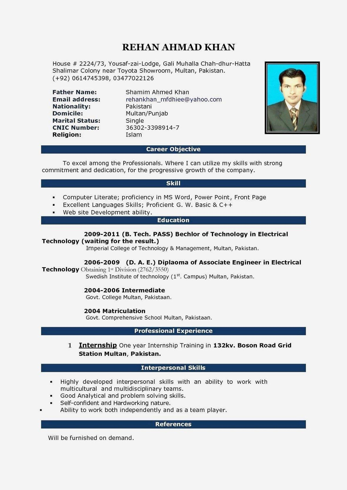 Best Word Resume Templates With Images Resume Format Download