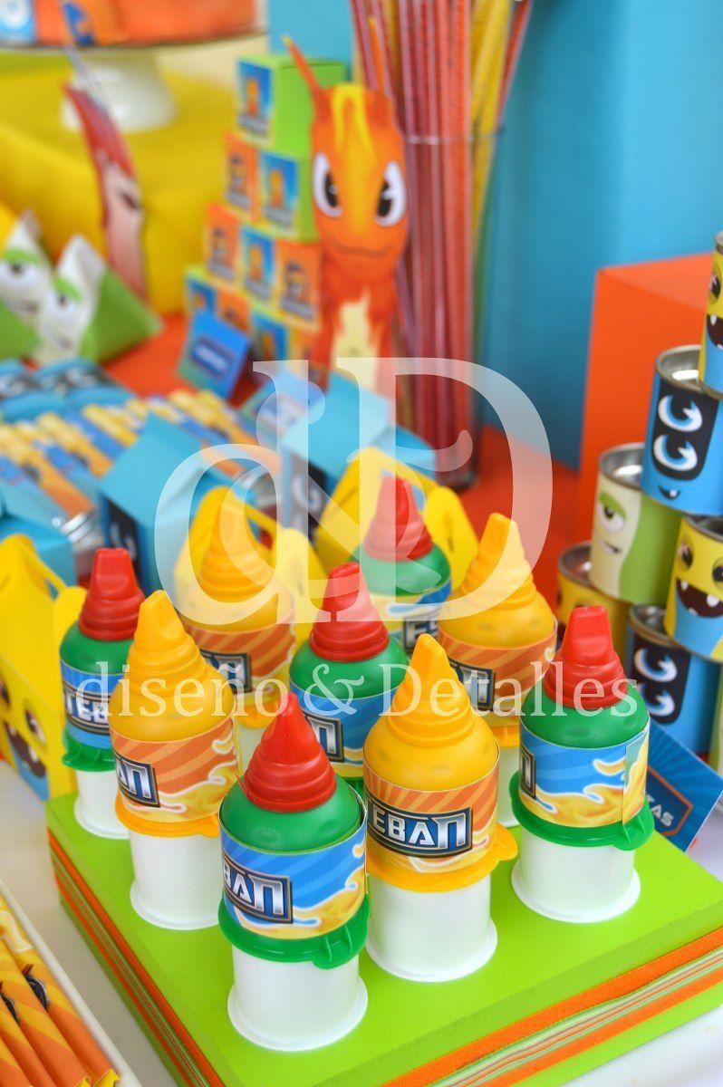 fiesta temtica mesa de dulces infantil bajoterra