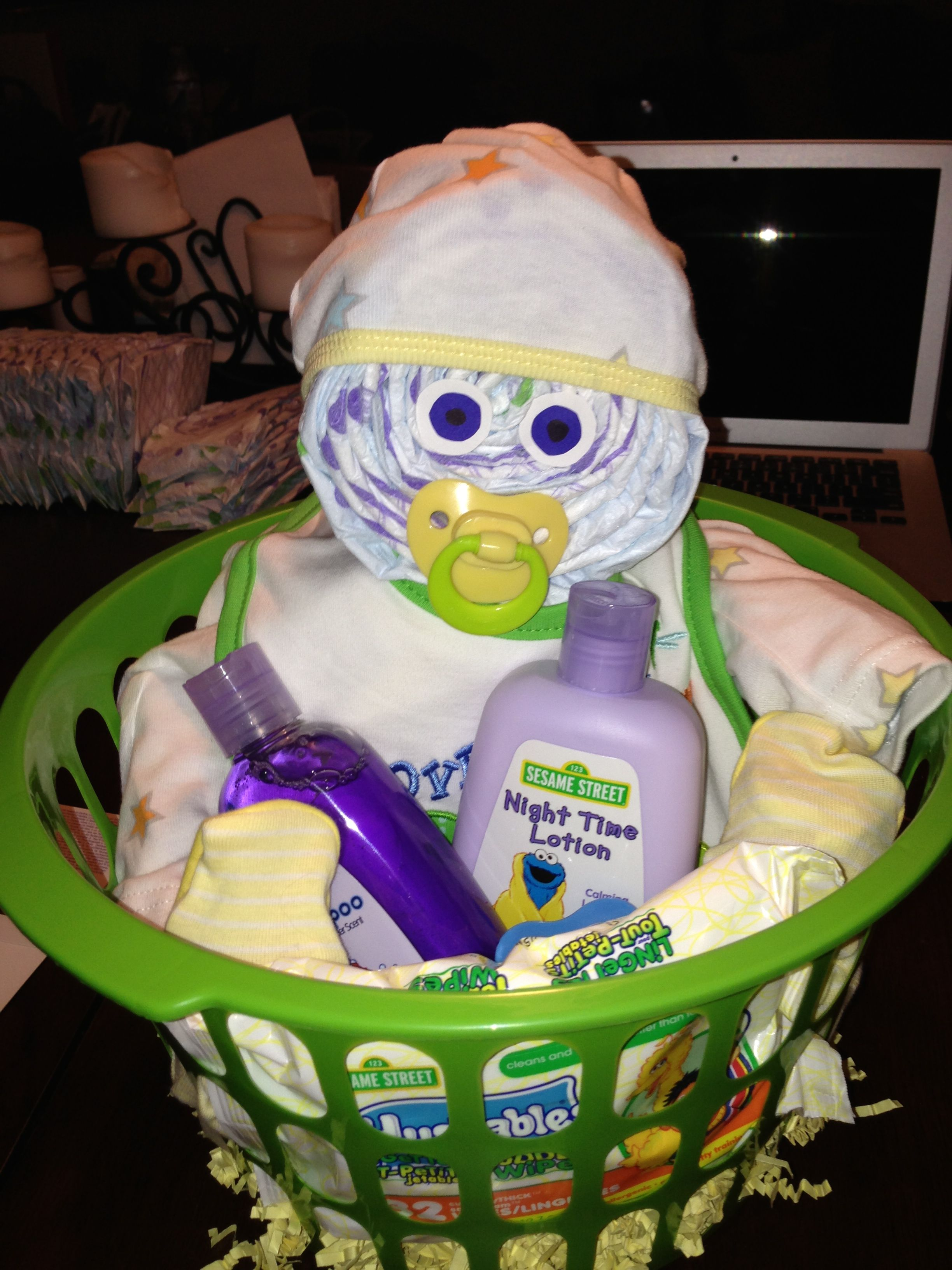 Diaper baby great gift for a mom to be baby is made out