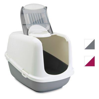 One Size White//Gray Savic Nestor Cat Toilet Home