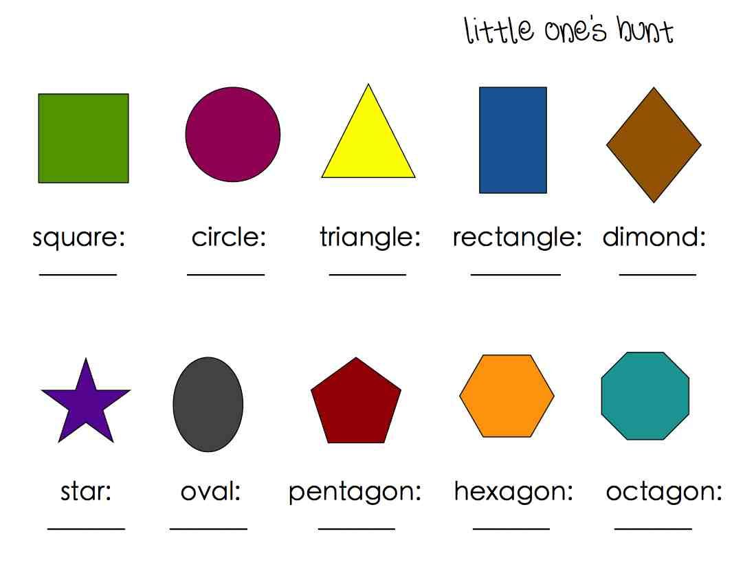 Shape And Color Scavenger Hunt Worksheet