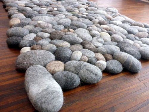 Felted Stone Rug Diy Rug Carpet