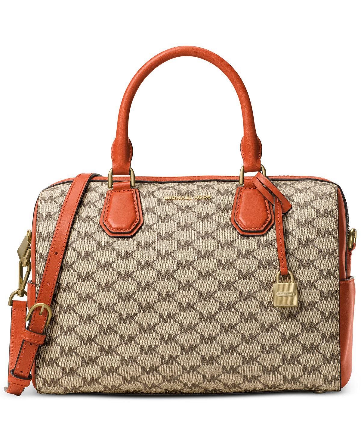 abe700ae41df MICHAEL Michael Kors Signature Mercer Medium Duffel - Designer Handbags -  Handbags & Accessories - Macy's