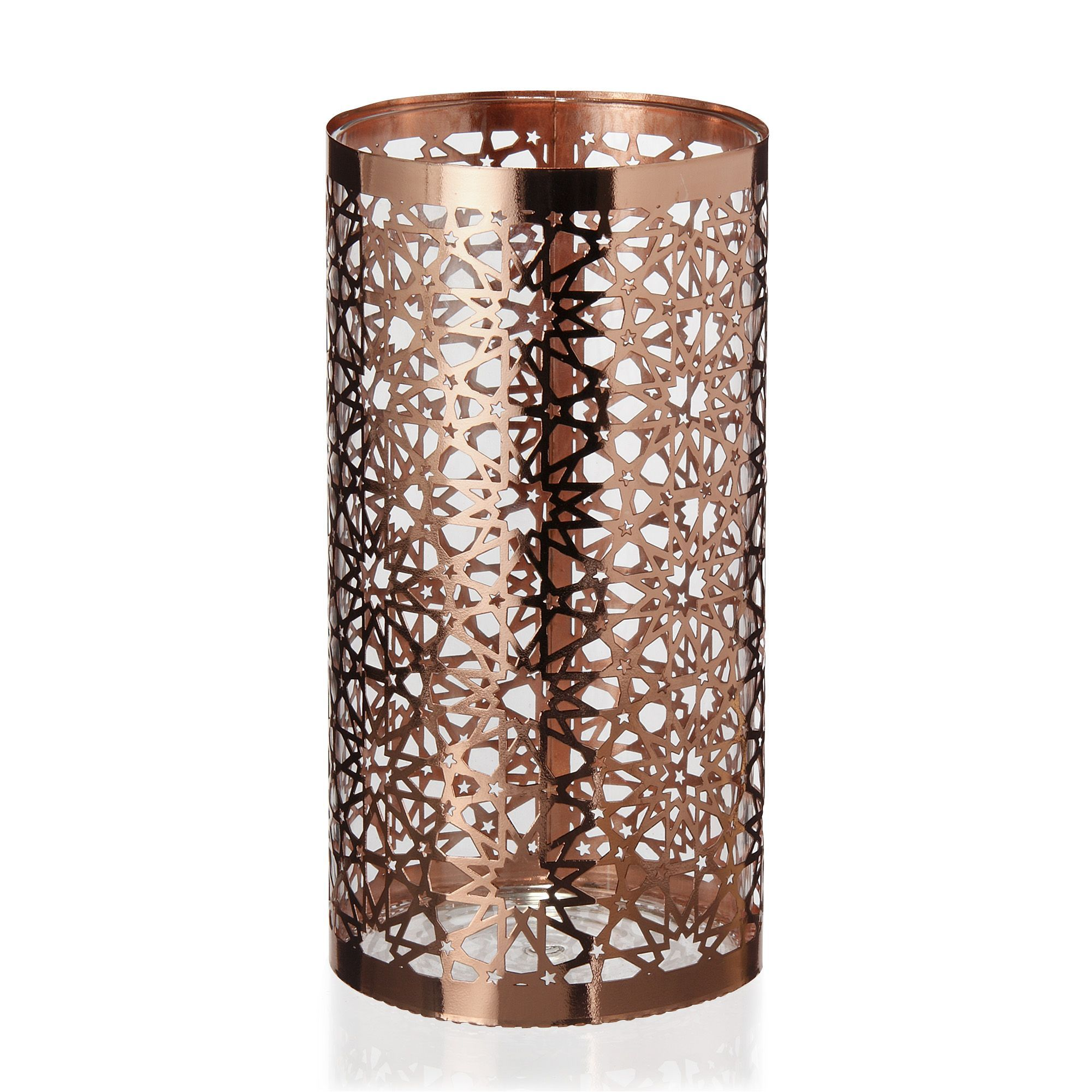 clea photophore en acier cuivr h20cm cuivre d coration d co maison alin a. Black Bedroom Furniture Sets. Home Design Ideas