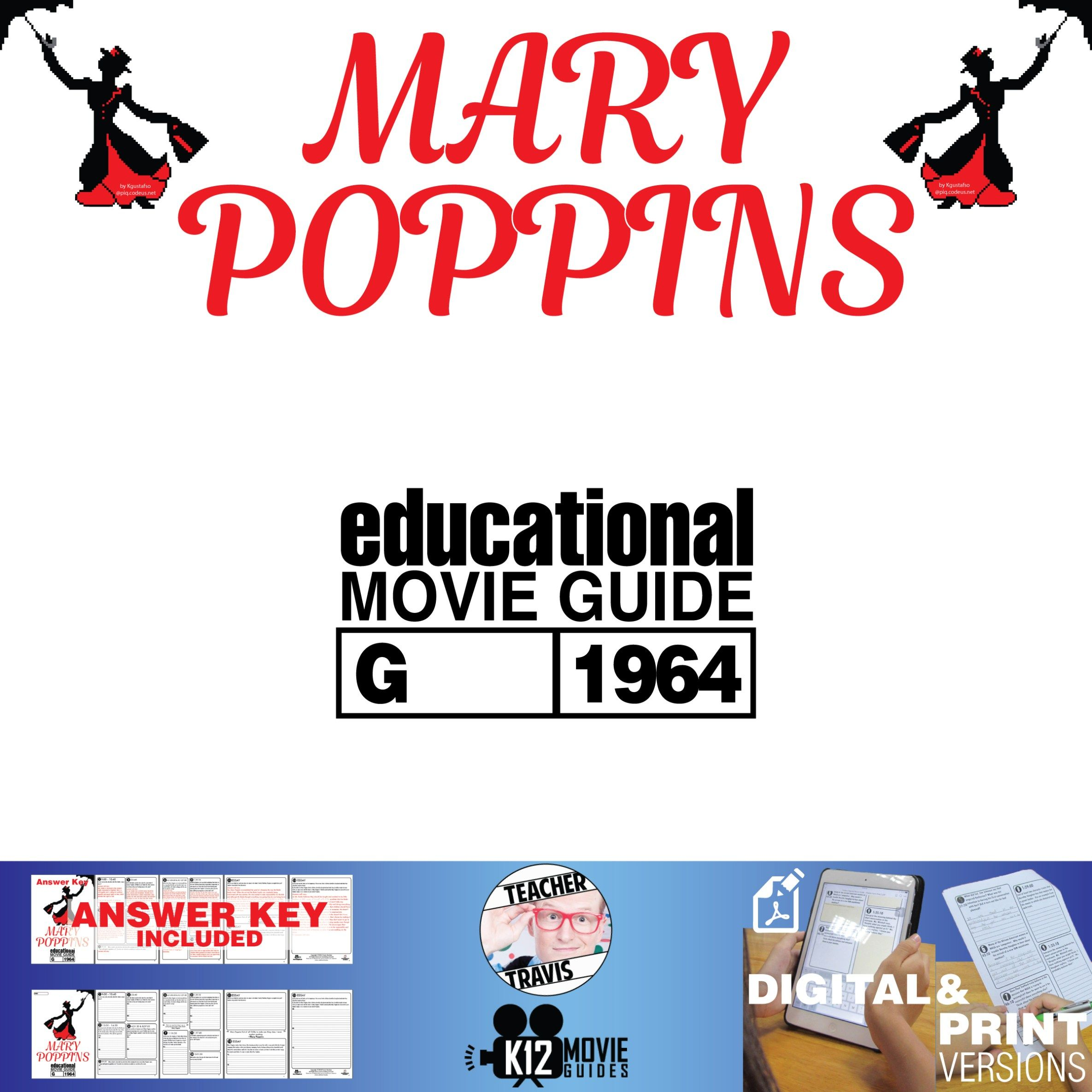 Mary Poppins Movie Guide Questions Worksheet G