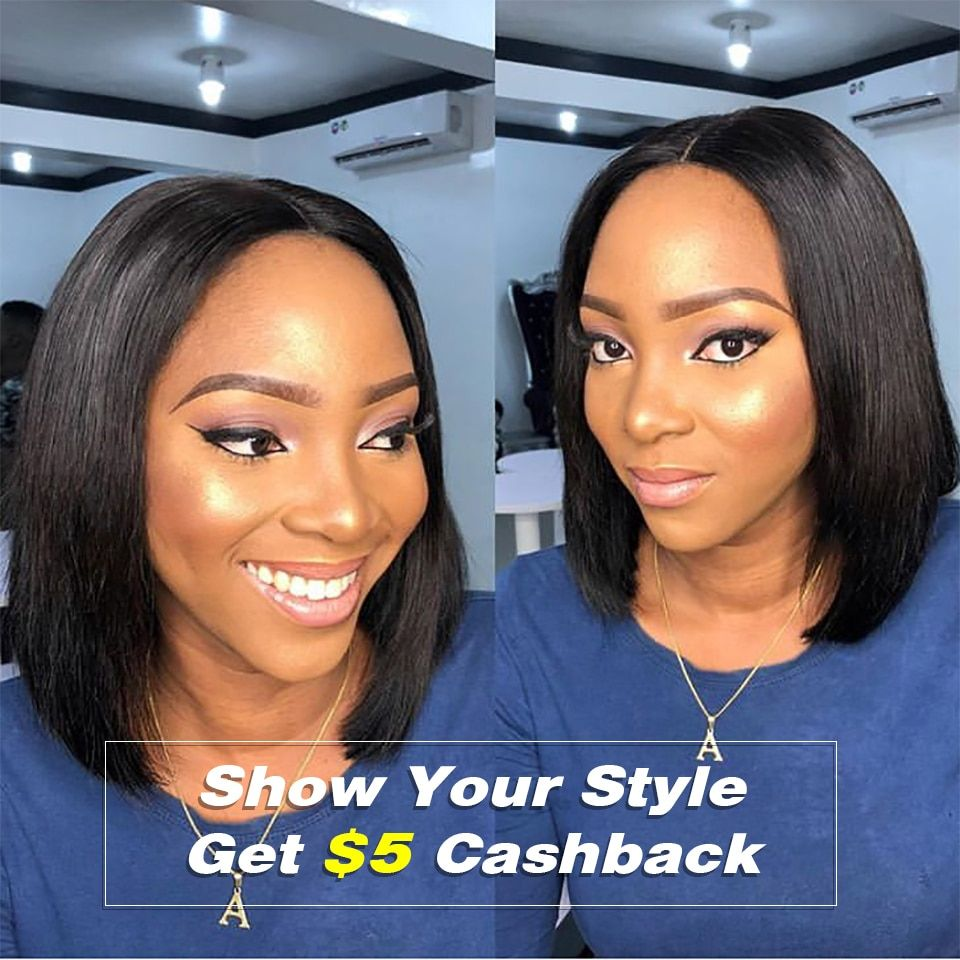 Short Lace Front Human Hair Wigs Brazilian Straight Bob Wigs Pre Plucked Hairline Natural Wigs For Black Women Alipearl Hair Wig Human Hair Lace Wigs Hair Extensions & Wigs