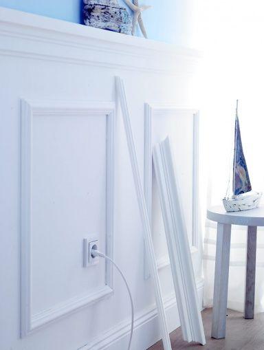 Mit Stuckleisten Und Zierprofilen Die Wande Inszenieren Stuckleisten Wandvertafelung Kleine Aufenthaltsraume