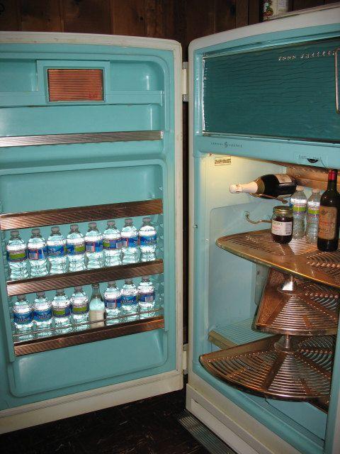 1950s GE Refrigerator/Freezer | APPLIANCES | Vintage refrigerator