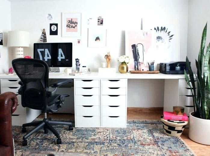 Double Desk Ikea Home Office, Double Desk Home Office Ikea