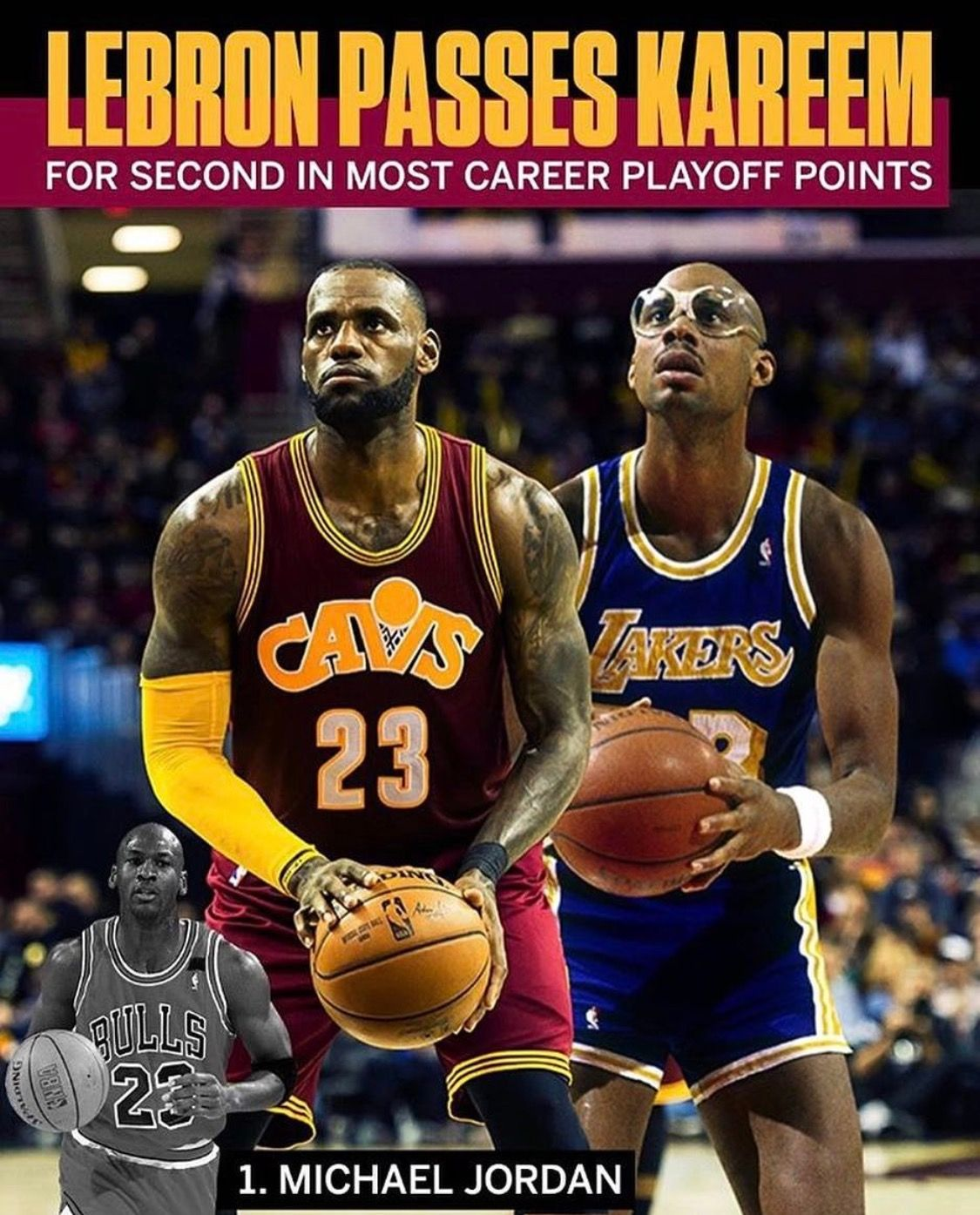 LeBron James Moving Up In Playoffs Scoring List