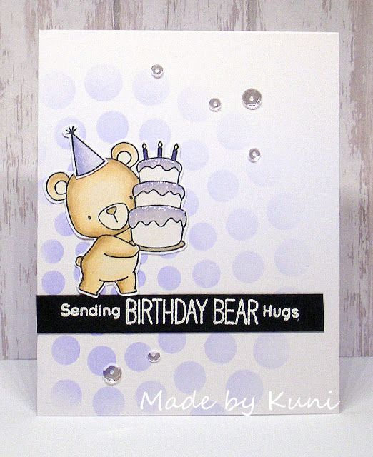 Card Critters Bear Cake Mft Beary Special Birthday Die Namics