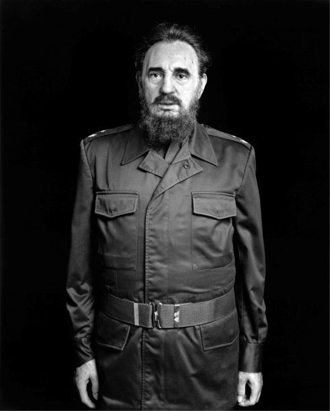 © Hiroshi Sugimoto, Fidel Castro, 1999, Black and white photograph, 149 X 119 cm, Courtesy Sonnabend Gallery