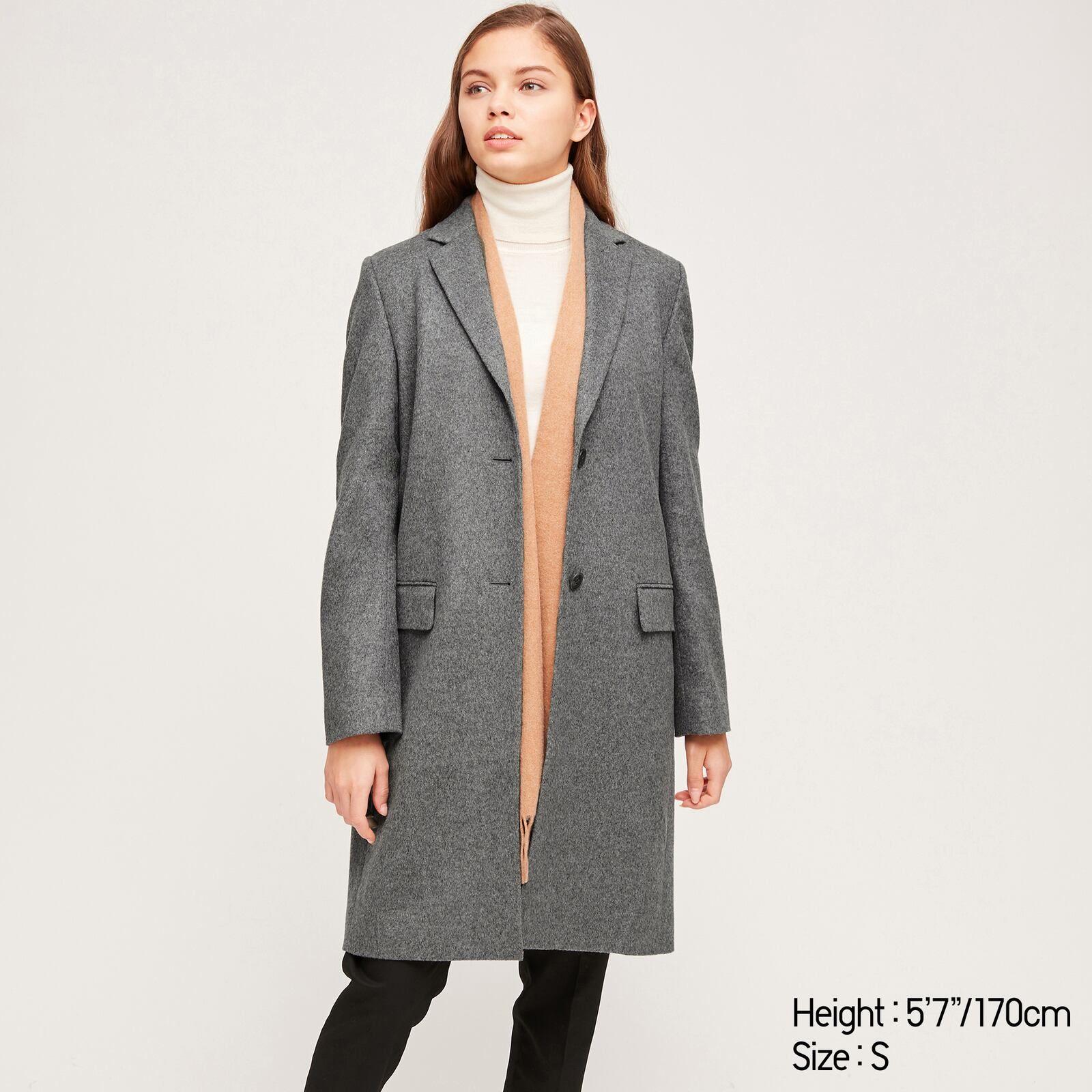 Uniqlo Cashmere Blend Chester Coat Coats For Women Coat Coats Jackets Women [ 1600 x 1600 Pixel ]