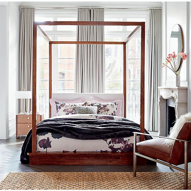 Blooma Floral Duvet Cover (With images) Wood canopy bed