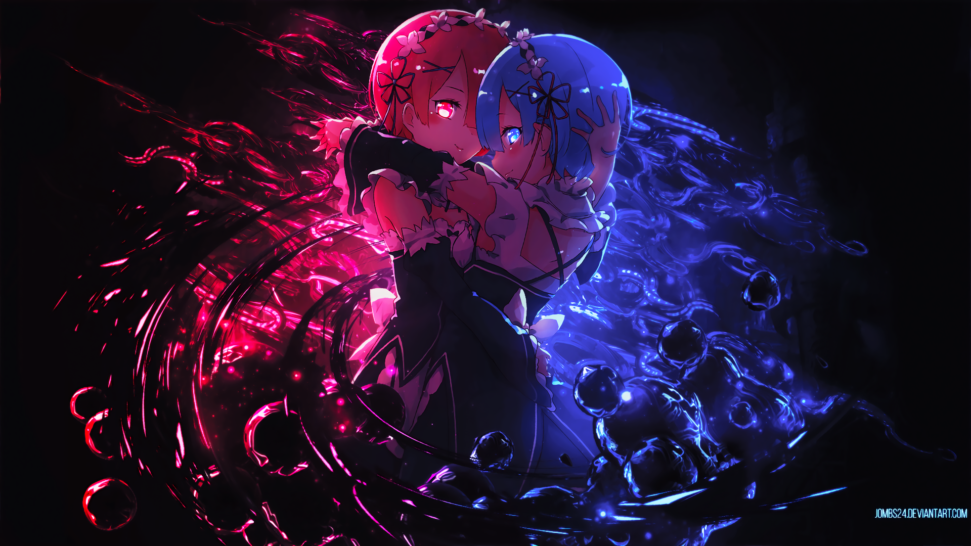 Anime Re Zero Starting Life In Another World Rem Re Zero Ram Re Zero Re Zero Wallpaper Anime Wallpaper 1920x1080 Anime Background Anime Wallpaper