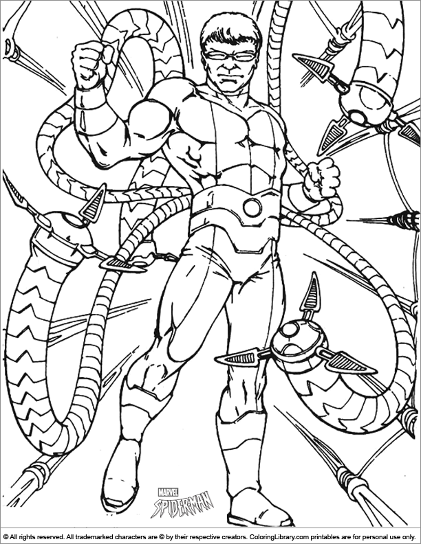 Spider Man Coloring Page Octopus Coloring Page Superhero Coloring Pages Spiderman Coloring