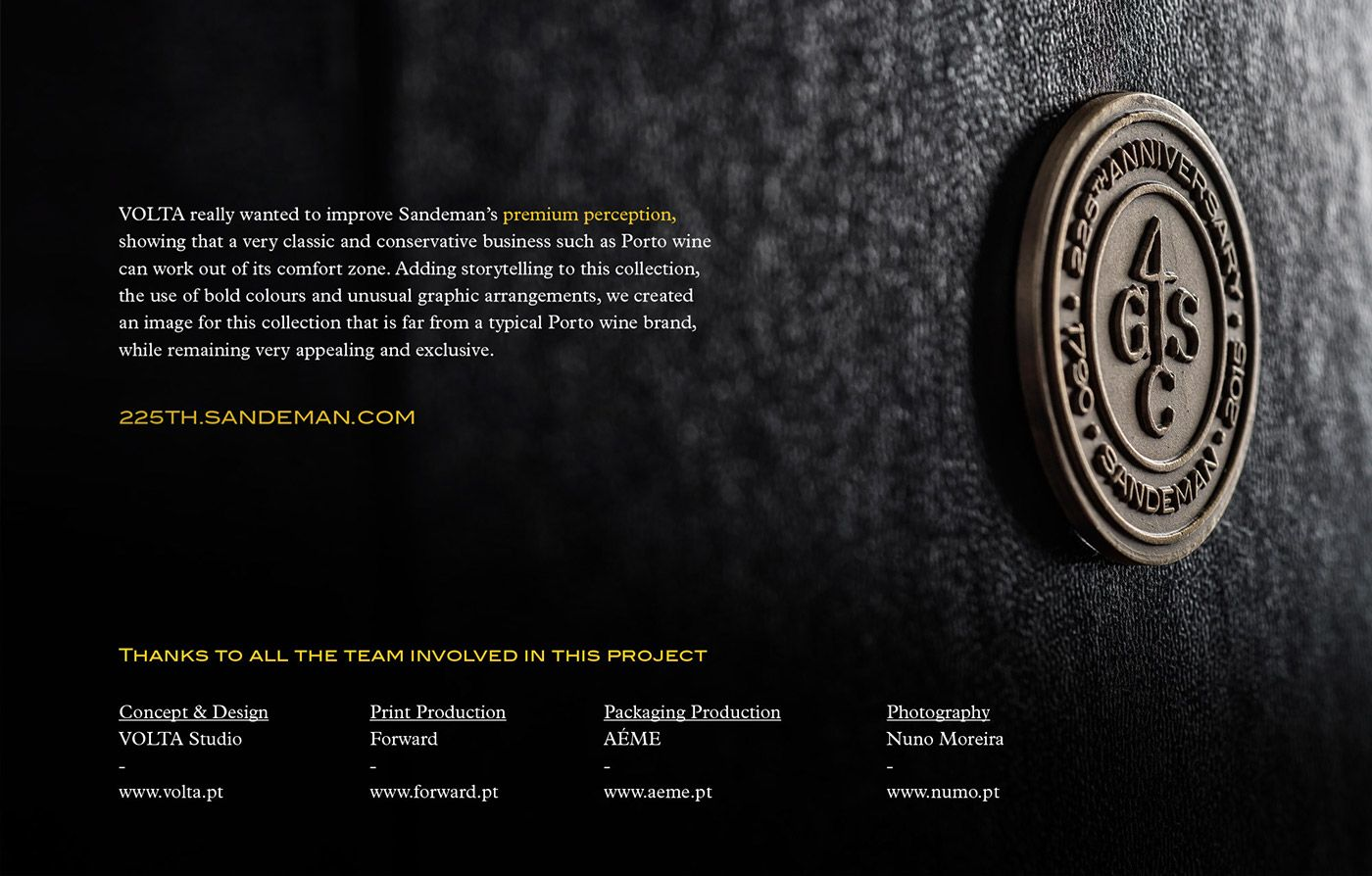 Sandeman 225th Anniversary Collection on Behance