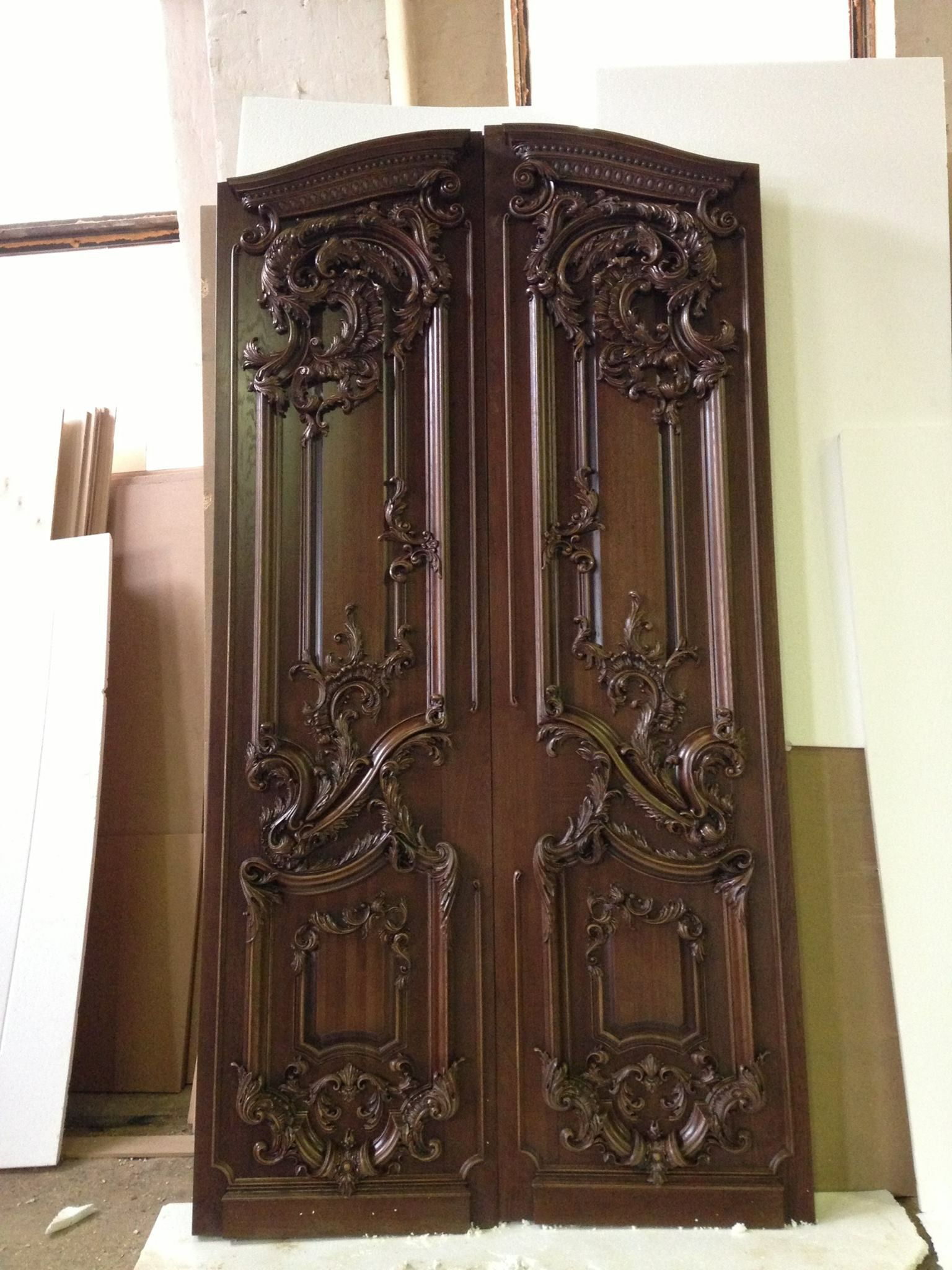 Wood carved front entrance door | Door Design Ideas ...