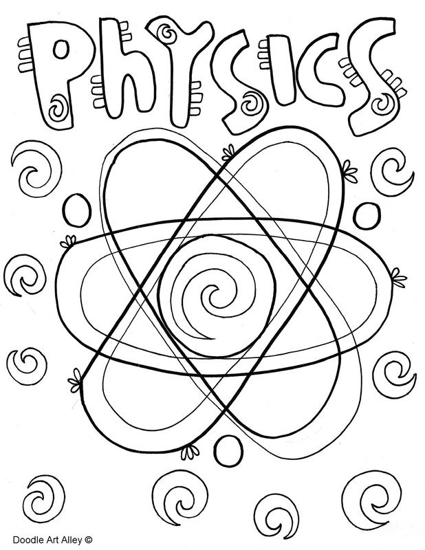 Chemistry Binder Cover Coloring Page