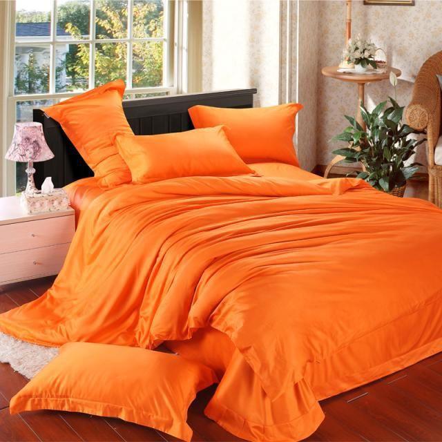 Font B Orange B Font Solid Luxury Comforter Bedding Set King Size Queen Comforters Sets Jpg 640 640 Pixels Bedding Sets Cheap Bedding Sets Full Bedding Sets