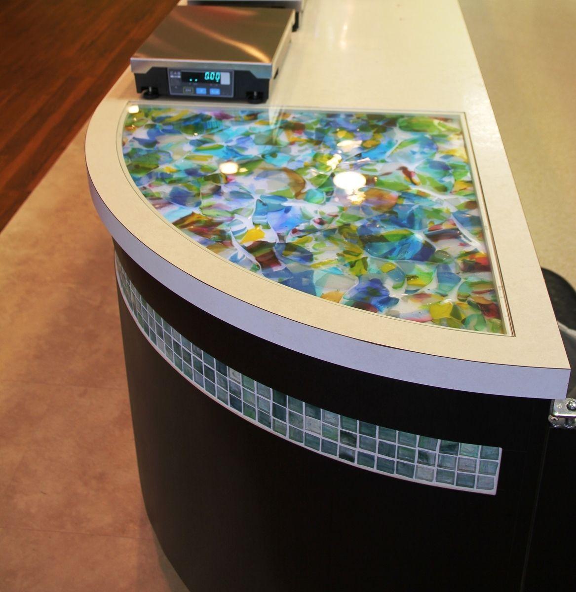Pos Counter Top For Yogurt Shop Custom countertops