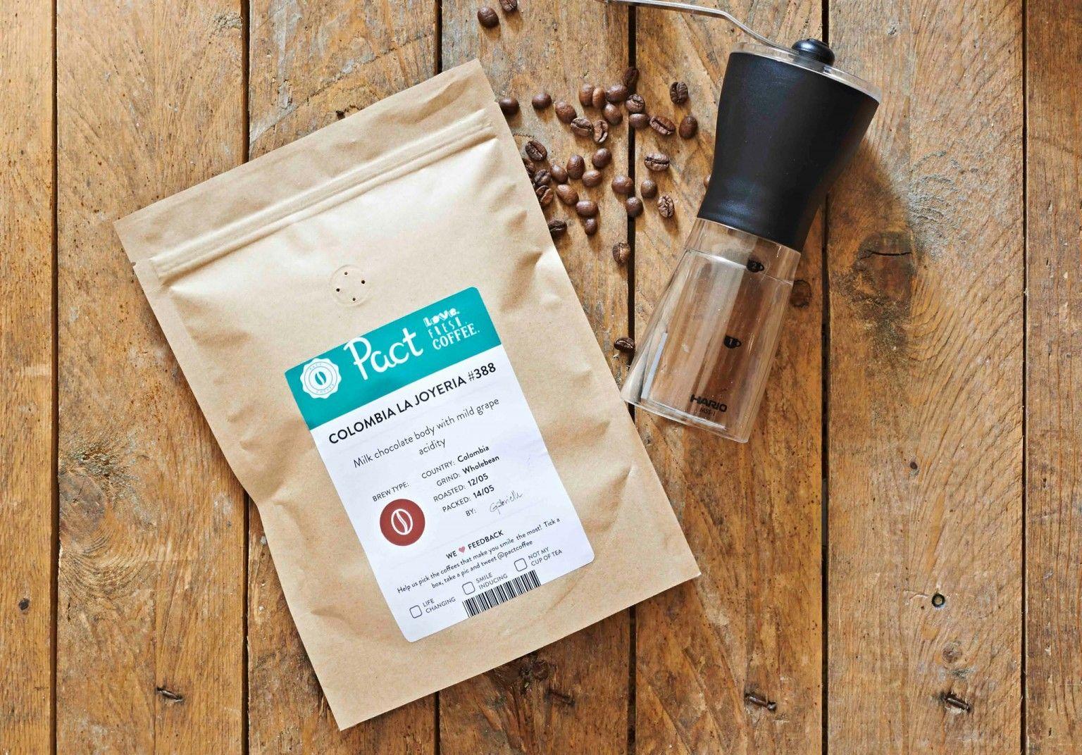 Pact Coffee november 2014 Pact coffee, Coffee gifts