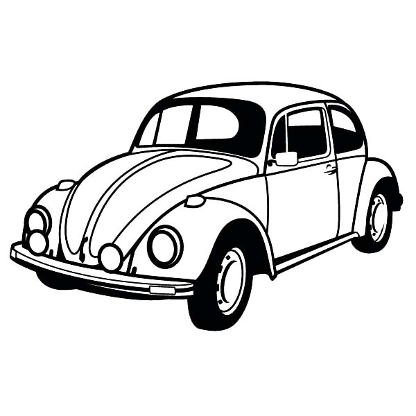 classic beetle car coloring pages