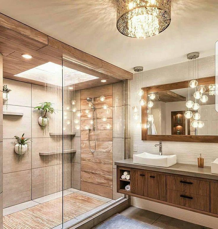 Holzfarbe und das GOLD-Badezimmerdekor waren eine wunderbare Harmonie. Wie findest du, ist es nicht zu cool? ? @duzenaskii ? @dekor_sahane ?ð … – Gönül – Dekoration