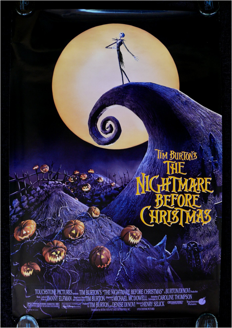 3.99 Tim Burton Nightmare Before Christmas Movie Poster