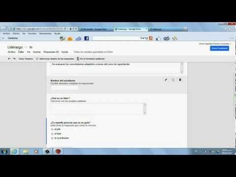 Tutorial Para Crear Formularios En Google Drive Youtube Google Drive Google Formularios