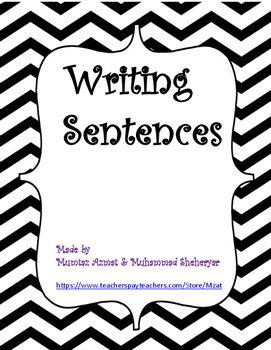 CVC Words Writing Sentence Worksheets for Kindergarten