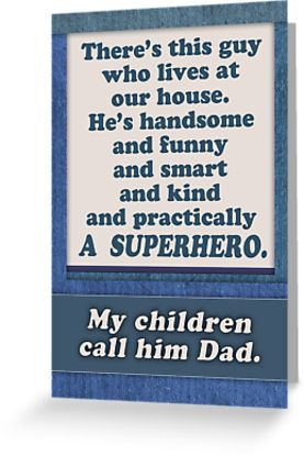 Happy Father S Day Superhero Dad From Wife Mom Greeting