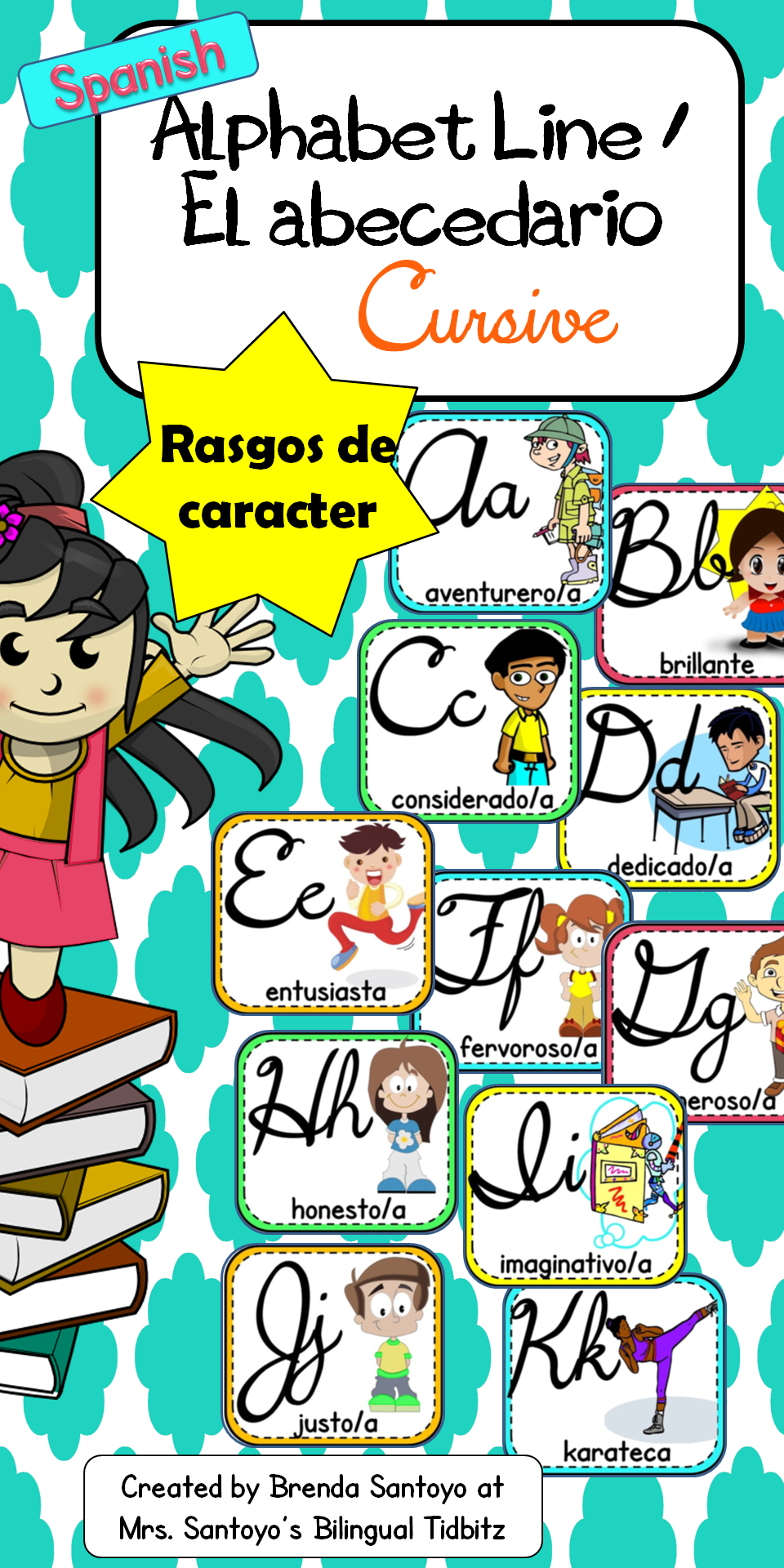 Alphabet Line El abecedario Cursive Character Traits in