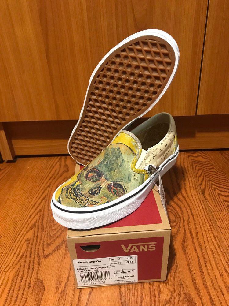 Vans X Vincent Van Gogh Museum Skull Slip On Sneaker Vn0a38f7u48 In Hand Vans Skateshoes Find Great Deals For Vans X Vincen Vans Slip On Sneaker Vans Slip On