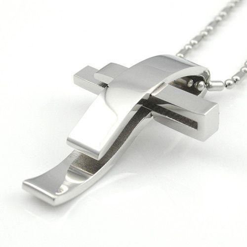 Beautiful Modern Silver Cross Stainless Steel Pendant