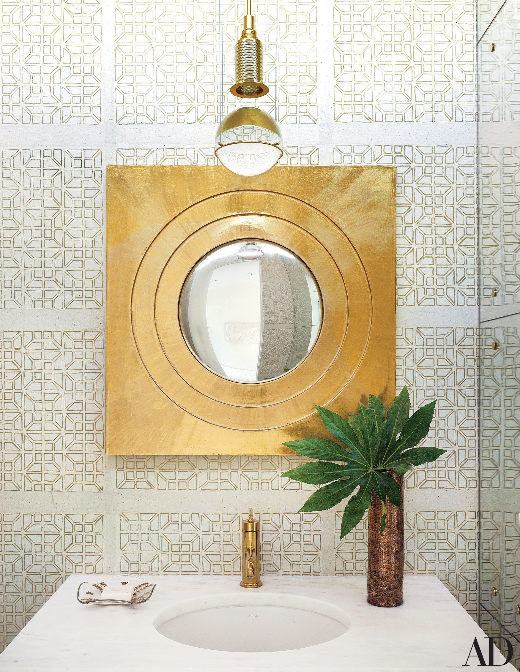 Powder Rooms Sure to Impress Any Guest | Powder room, Architectural ...
