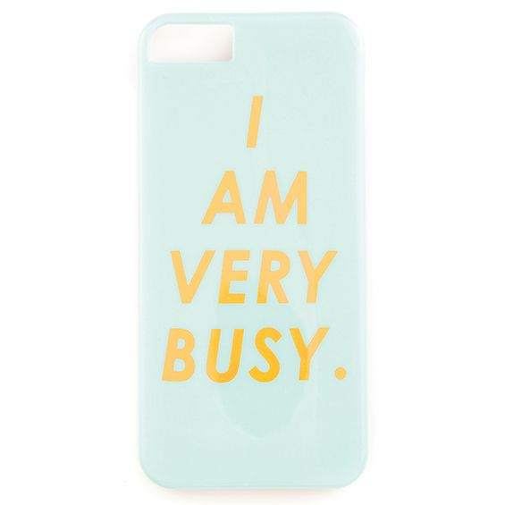 Ban.do 'I AM VERY BUSY' iphone 5/5s hard case phone cover from Hippenings